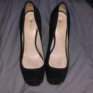 Vintage prada woven heels